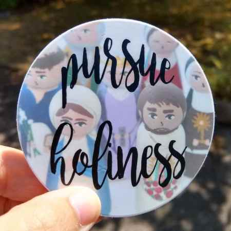 pursue holiness sticker sunlit
