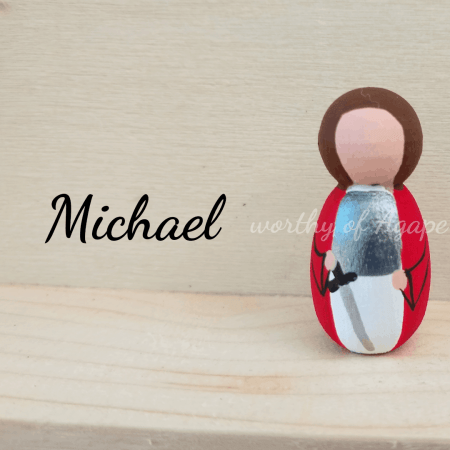 Michael keychain front