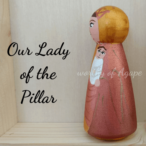 Our Lady of the Pillar peg close Jesus side