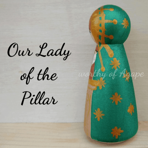 Our Lady of the Pillar single peg side 2