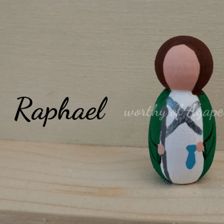 Raphael keychain front