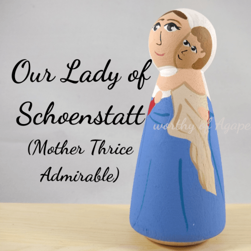 Our Lady of Schoenstatt mother thrice admirable close up