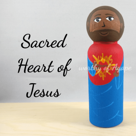 Sacred Heart of Jesus main black dark skin