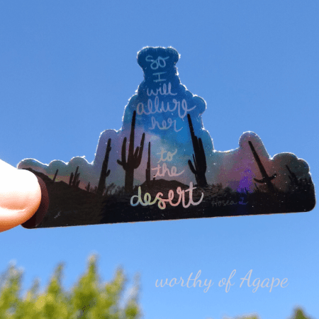 verso l_alto sticker Holo on blue sky