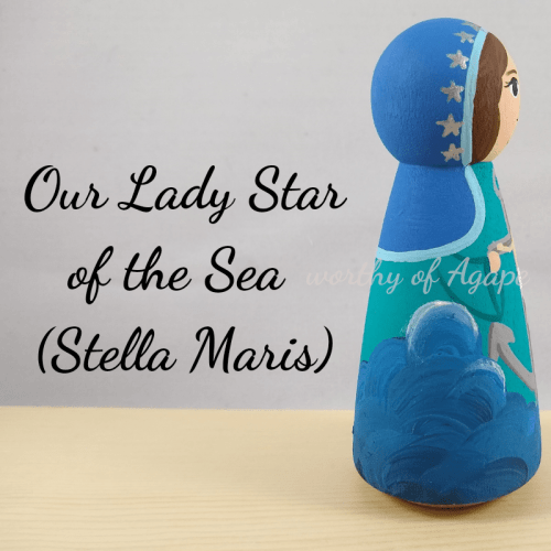 Our Lady Star of the Sea Stella Maris crucifix side