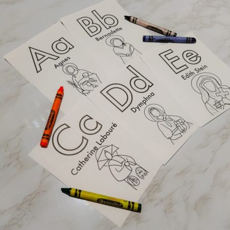 Coloring Sheets & Flash Cards