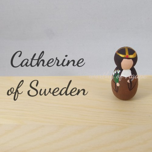Catherine of Sweden keychain ornament top