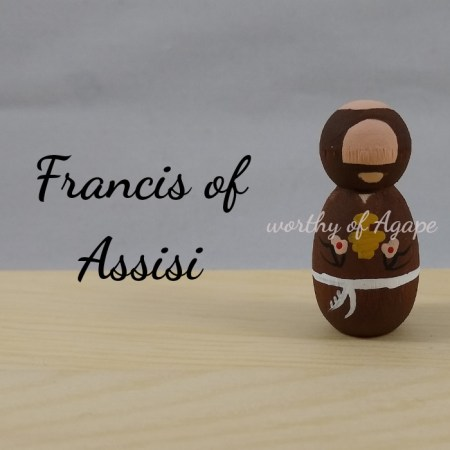 Francis of Assisi keychain ornament new