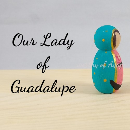 Our Lady of Guadalupe keychain ornament new side