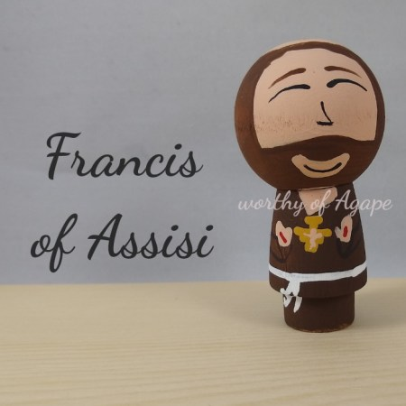 Francis of Assisi kokeshi main