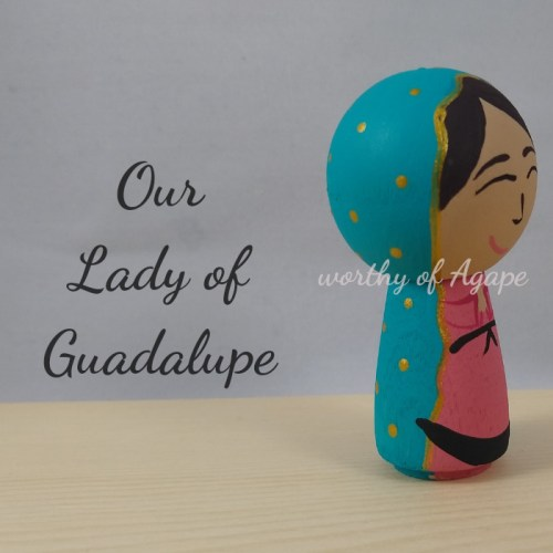 Our Lady of Guadalupe kokeshi side