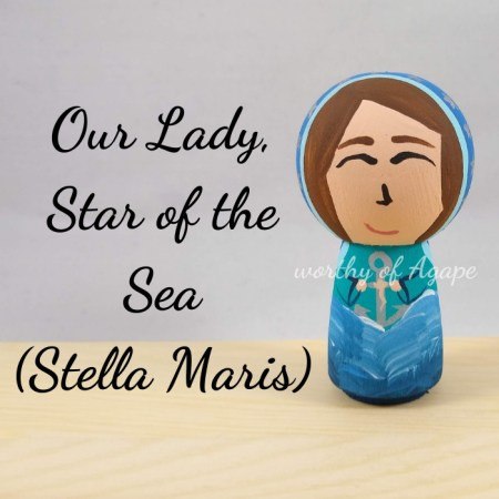 Our Lady Star of the Sea Stella Maris kokeshi main