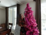 Our Pink Feather Tree