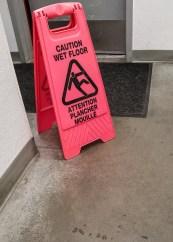 Caution - Wet Floor