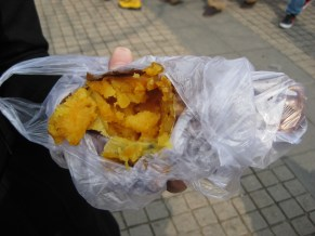Roasted sweet potato in a bag = happiness on an otherwise blah day
