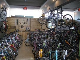 More Bikes: second floor of the Merida shop.