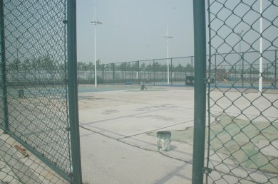 Tennis Courts: out with the old, in with the new.