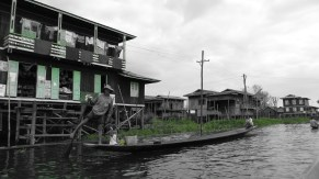 Family on Boat Inle Lake