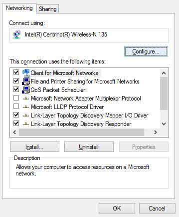 wifi adapter settings