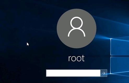 Windows 10: User password on login screen