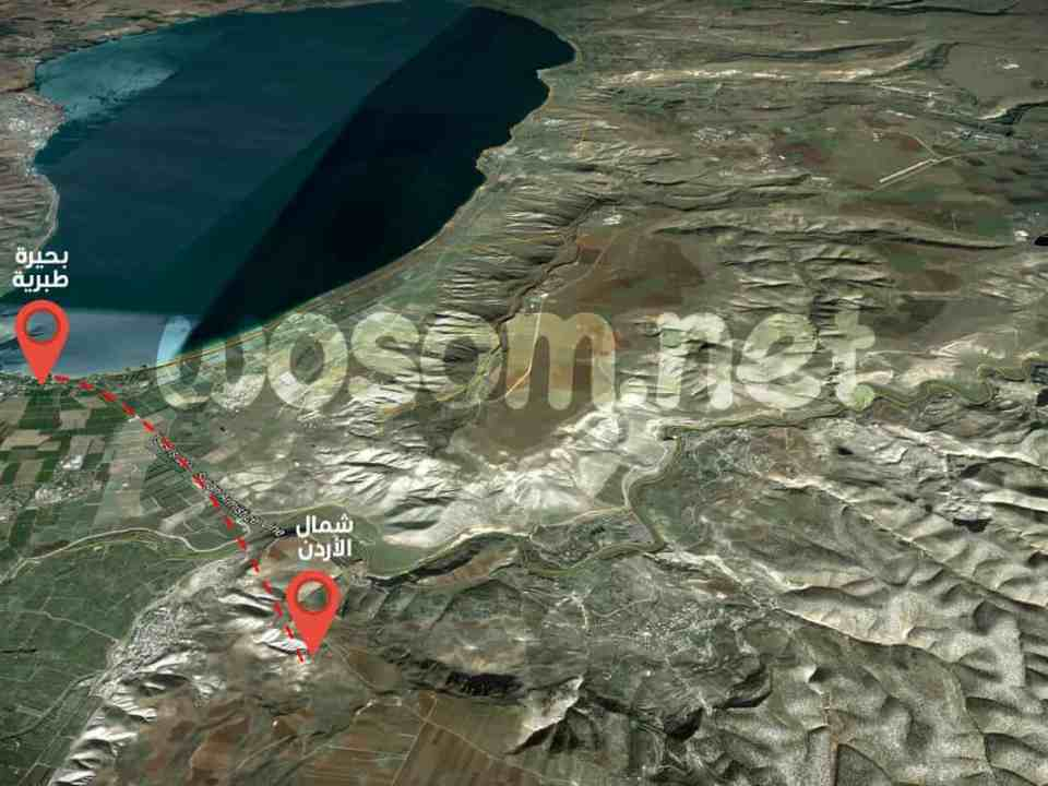 بحيرة طبرية شمال الأردن