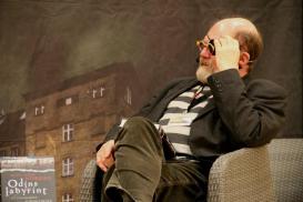 Jannnik Lunn og 'Odins labyrint'. Jannik var en sej interviewer; og det var ikke kun på grund af klappen;)