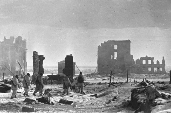 Центр Сталинграда после бомбежки
