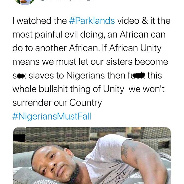 #NigeriansMustFall – South Africans react to #Parkland Video (Video) 5