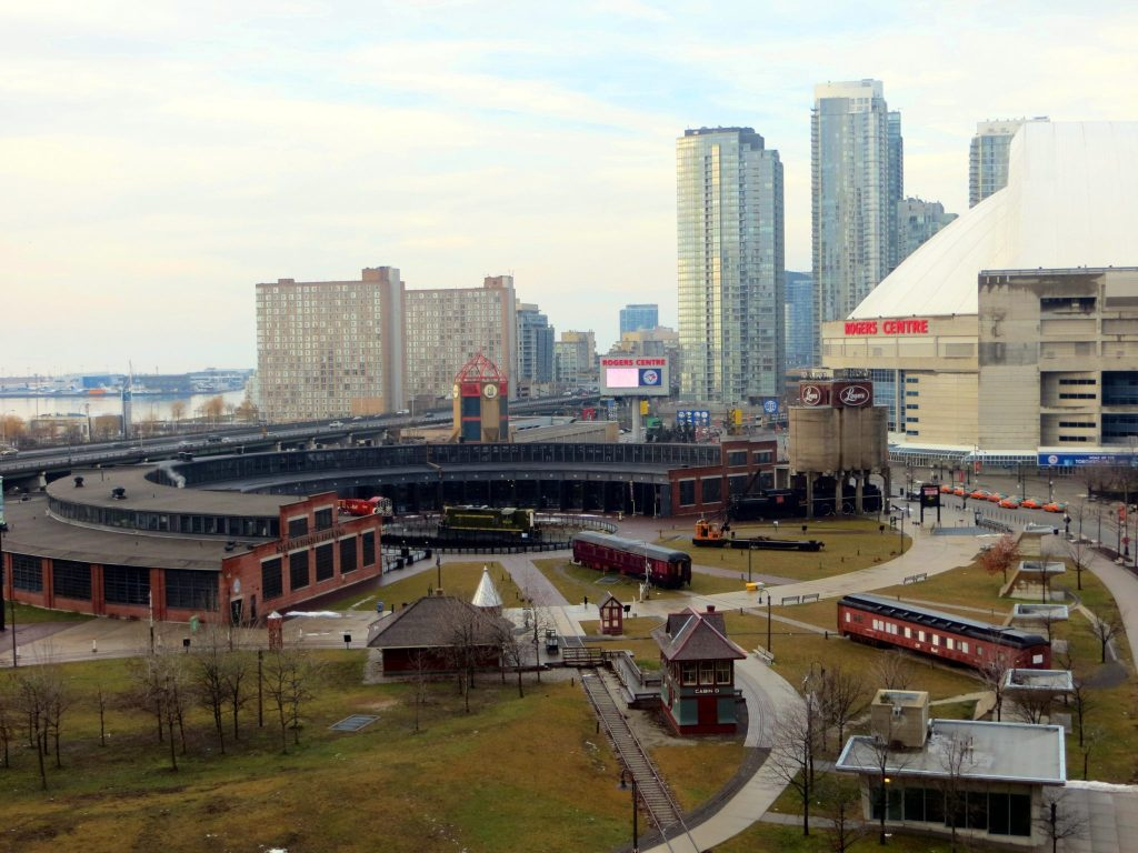 Toronto Roundhouse Park and the Rodgers Centre