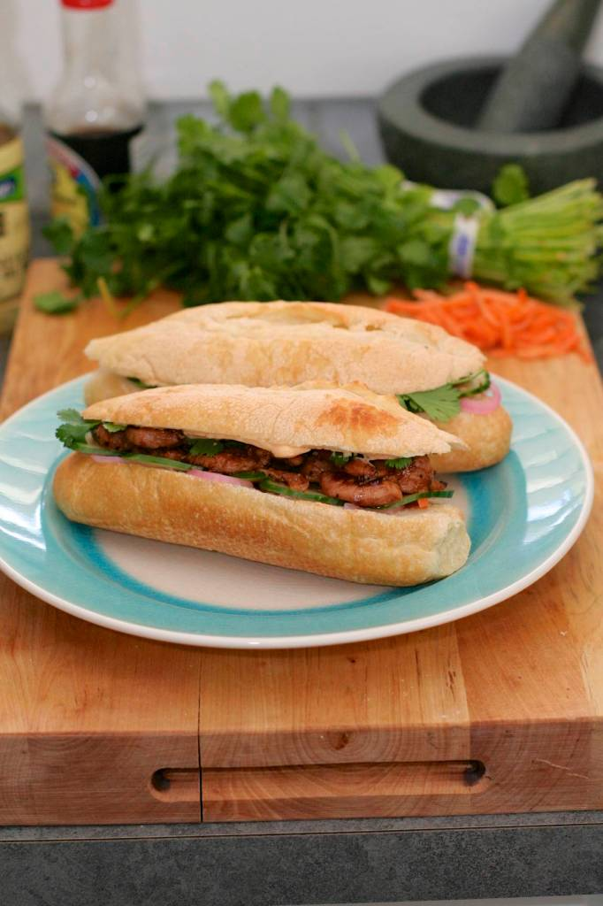 Finished banh mi