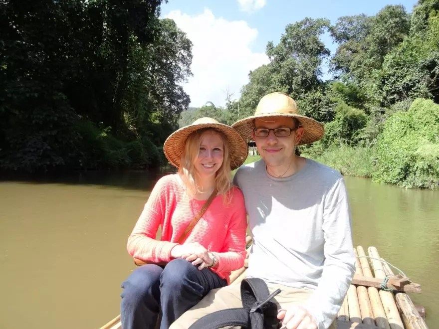 Bamboo rafting in Chiang Mai