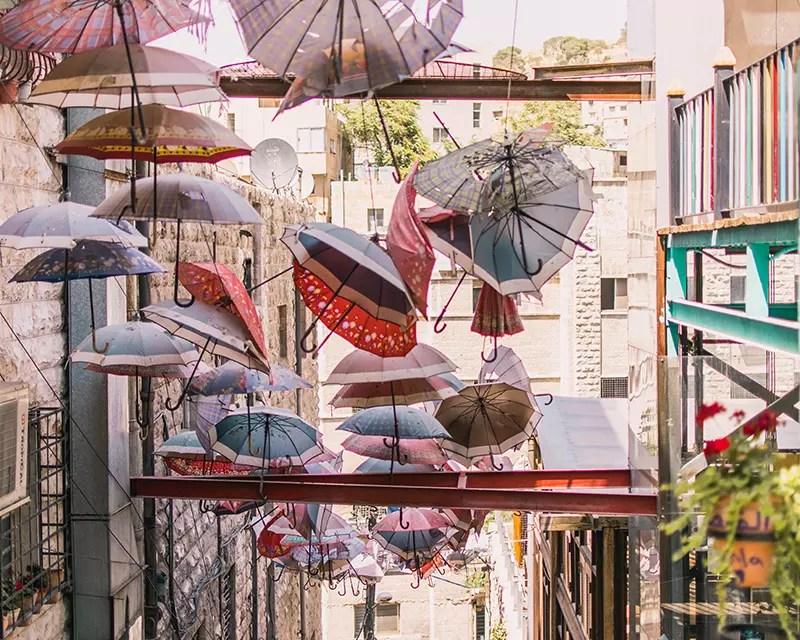 Would Be Traveller Things to do in Amman Jordan Umbrella Art