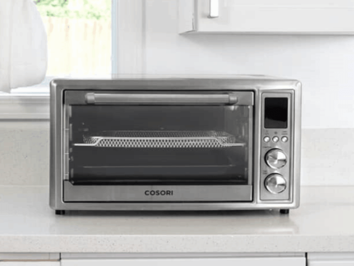 Cosori Air Fryer Oven Combo in a white kitchen