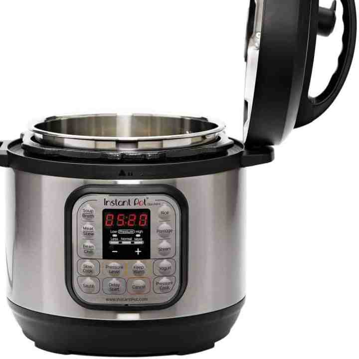 Image of the Instant Pot Duo Mini with the lid open.