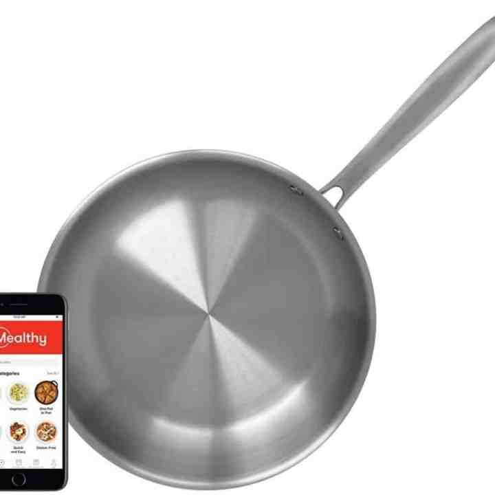 Image of mealthy stainless steel pan