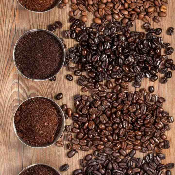 image of different roasts of coffee beans