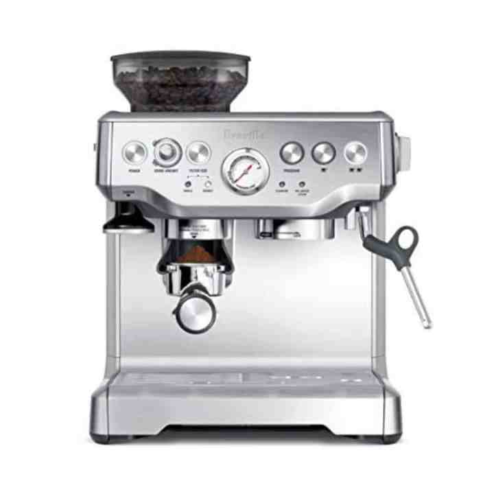 breville cappuccino maker against a white background