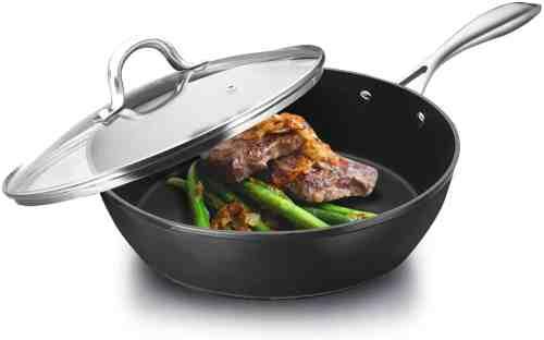 cooker king nonstick deep saute, frying pan