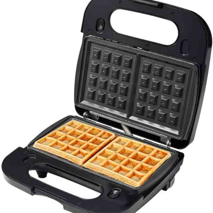 image of a square shaped waffle iron