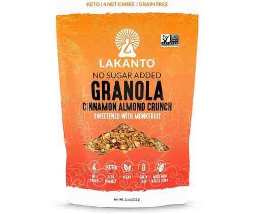 lakanto cinnamon almond crunch granola
