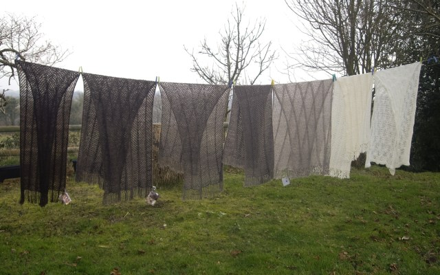Julia Desch's Land and Wensleydale Shawls