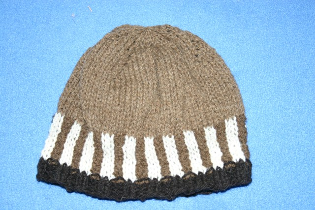 hat made from foula wool