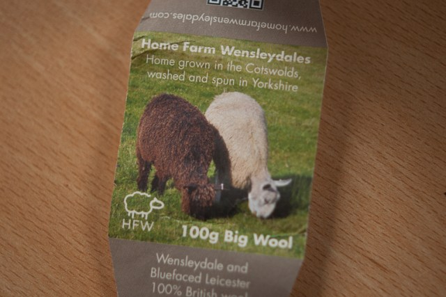 Wensleydale and Bluefaced Leicester, grazing side by side in the field, their wool spun together in the yarn