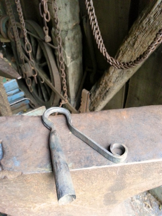 Freshly forged Pyecombe hook