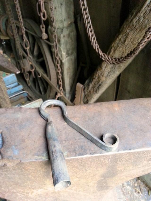 Freshly forged Pyecombe hook