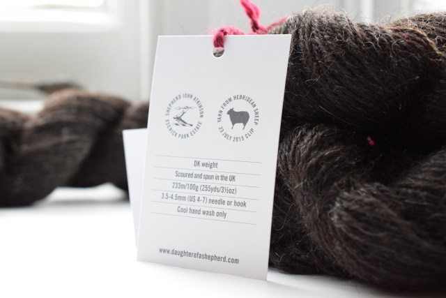 Daughter of a Shepherd yarn and label