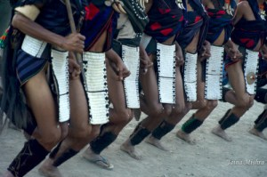 Naga Warrior Tribal Dance, Nagaland, India