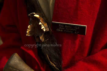 Jaws of a fierce animal hunted by the Gaanv Boodha in the past