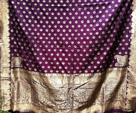 ANTIQUE SILK BANARASI SARI WITH ZARI