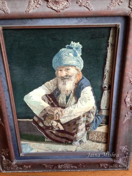 figurative tabriz carpet - old man